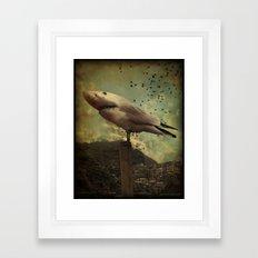 Bird Shark Framed Art Print