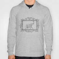 grey frame with elephant Hoody