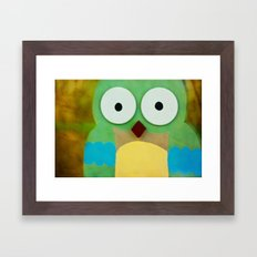 whoo? Framed Art Print