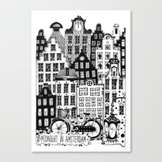 Midnight in Amsterdam Canvas Print
