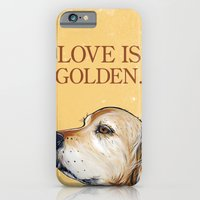 iPhone & iPod Case featuring Love is Golden by WOOF Factory