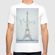 Paris Mens Fitted Tee SMALL White