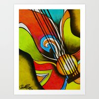 Untitled (Guitar)  Art Print