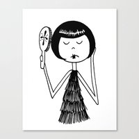 Eloise brushes her hair Canvas Print