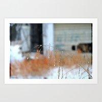 Droplets, 3 Art Print