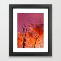 Sundown Silhouettes Framed Art Print