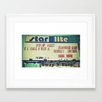 Framed Art Print featuring South Tacoma Swap Meet by Vorona Photography