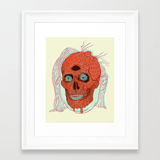 Anatomy of a Beetleman   Framed Art Print