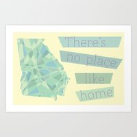 Georgia - There's No Place Like Home Art Print