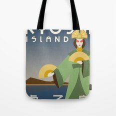 Kyoshi Island Travel Poster Tote Bag