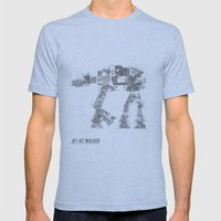 Star Wars Vehicle AT-AT Walker Mens Fitted Tee Athletic Blue SMALL