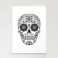 Deco Sugar Skull 2 Stationery Cards