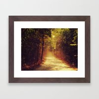 Dusty road Framed Art Print
