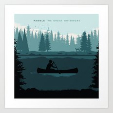 Paddle The Great Outdoors Art Print