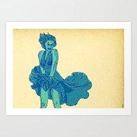 - summer marilyn - Art Print