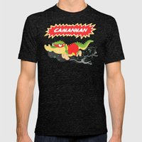 Caimanman Mens Fitted Tee Tri-Black SMALL