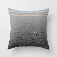 Dolphin Leap Throw Pillow
