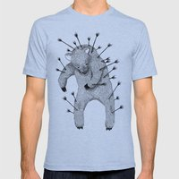 Life and Love Mens Fitted Tee Tri-Blue SMALL