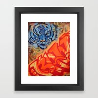 Just Gazing Framed Art Print