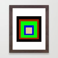 homage to the CMYK square. Framed Art Print