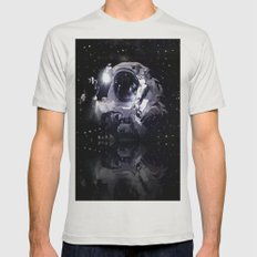ASTRONAUT. Mens Fitted Tee Silver SMALL