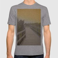 Boardwalk Sunrise Mens Fitted Tee Athletic Grey SMALL
