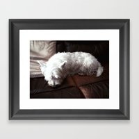 Dog Tired Framed Art Print