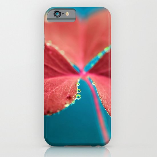 You turn my heart every which way - pink clover macro. iPhone & iPod Case