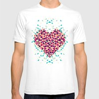 A Heart Is Made Of Bits … Mens Fitted Tee White SMALL