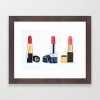 Red Lipsticks Framed Art Print