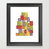 ABC Block Framed Art Print