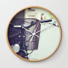 Bike in Paris Wall Clock