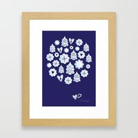 Blue Christmas Decoratio… Framed Art Print
