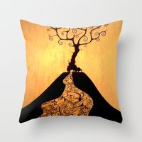 She's Black Against The … Throw Pillow