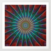 fractal Art Prints featuring Peacock fractal by David Zydd