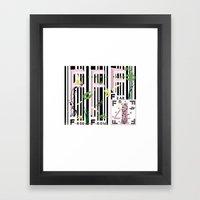 Four Freedoms Barcode Black Framed Art Print
