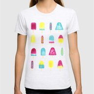 Yummy Popsicles Womens Fitted Tee Ash Grey SMALL