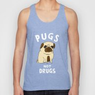 Pugs Not Drugs Unisex Tank Top