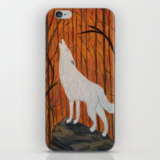 white wolf in the sunset iPhone & iPod Skin