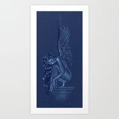 Angel at rest Art Print