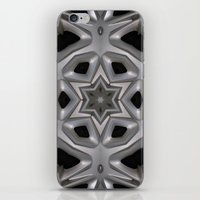 Abstract kaleidoscope of a wheel cover iPhone & iPod Skin