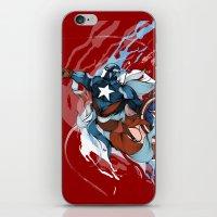 iPhone & iPod Skin featuring CAPTAIN by Lera Razvodova