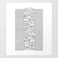 Furr Division White Art Print