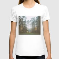 Treeline Womens Fitted Tee White SMALL