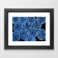 Flowers at Midnight Framed Art Print