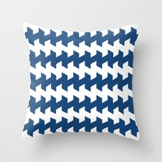 jaggered and staggered in monaco blue Throw Pillow