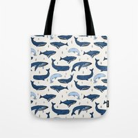 Whales By Andrea Lauren Tote Bag