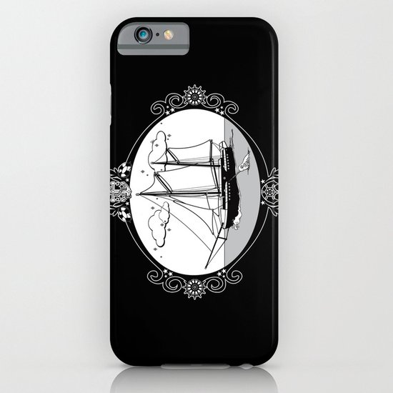 Sailing Ship Oval iPhone & iPod Case