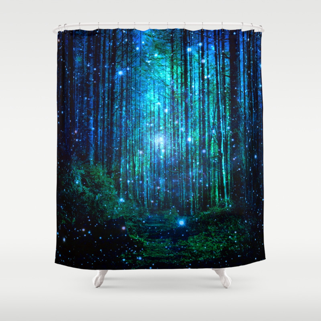 Popular Dark Blue Shower Curtains