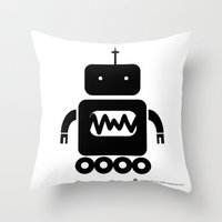 ROBOT Number Three Throw Pillow
